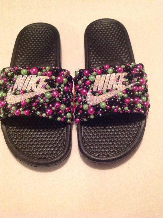 2d75eac4d30171 Bling nike slides nike shoes accessories by Jukoriahsbling on Etsy durable  service