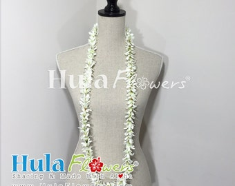 Silk Jasmine Lei 22 inches For Hawaiian, Polynesian, Hula Dancer, Wedding Party, Lei-JS-01