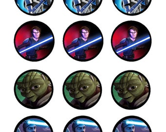 Star Wars Edible Cupcake Toppers with FREE Personalization