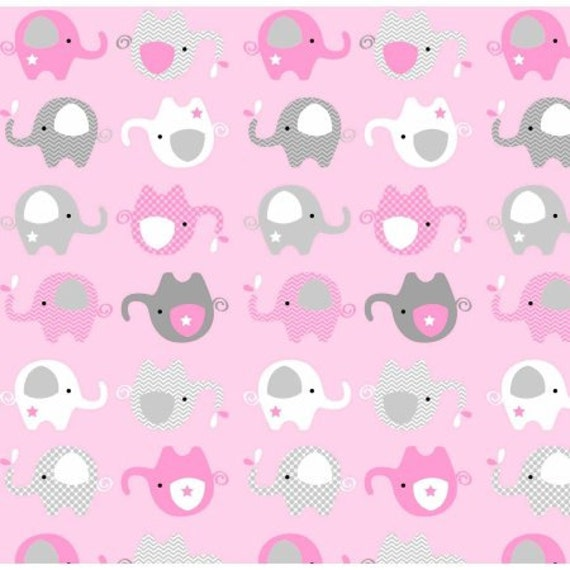 Elephant fabric flannel fabric baby fabric kids fabric for Purple baby fabric