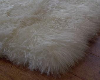 Sheepskin Rug Genuine 4' x 6'.