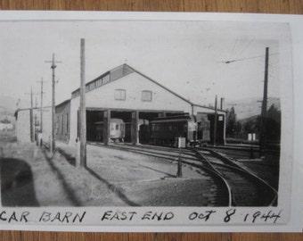Butte Anaconda Pacific - BAP - Car Barn -East End - 1944  Anaconda Montana Photo Reprint