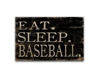 Eat. Sleep. Baseball. block wooden sign coach gifts Baseball art baseball decor sports decor baseball gifts sports gifts masculine gifts