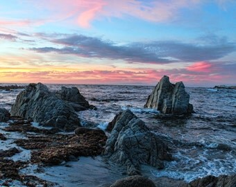 Rocky Shores, Rocks, Sunset, Ocean, Sunset Drive, Pacific Grove, Monterey County, Central Coast, California