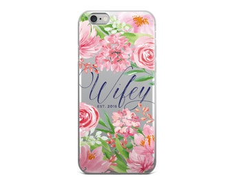Wedding iPhone Case - Custom iPhone Case - Wifey Case - iPhone 6/6s, 6 Plus/6s Plus, 7/8, 7 Plus/8 Plus, iPhone X
