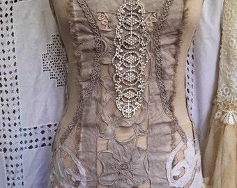 Vintage inspired wedding dress .Alternative wedding, Vintage wedding gowns, Fairy dresses, eco friendly wedding dress, boho delux wedding