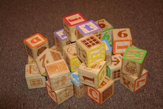 Large lot of 1 3 4 wooden alphabet number blocks 31 for Large wooden blocks for crafts