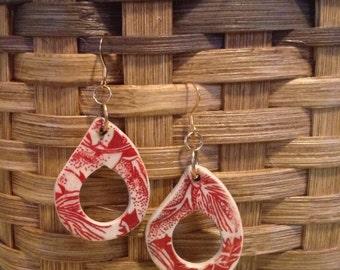 Clay Drop Earrings, handmade