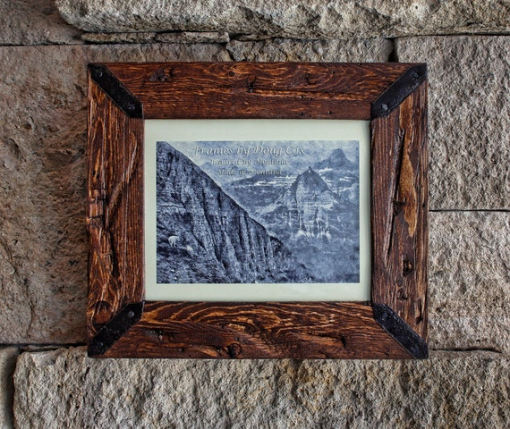 Rustic 8 Rustic 8: 8 X 10 Rustic Picture Frame Wood Frame Rustic Decor