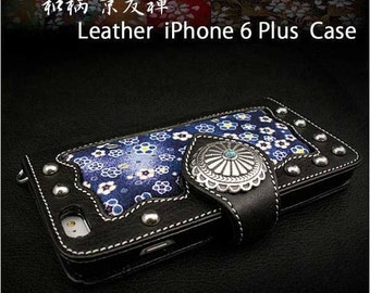 Leather iPhone Plus Case K01C94