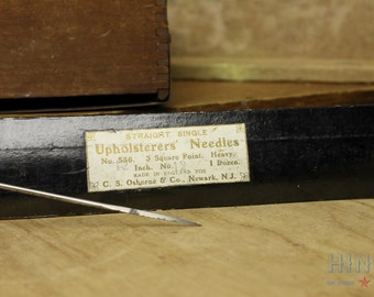 Vintage 12in C. S. Osborne & Co. Upholsterers' Needles 12 count in original package Item#343