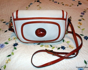 Vintage Dooney & Bourke AWL  Crossbody Messenger Designer Handbag Purse with Wallet