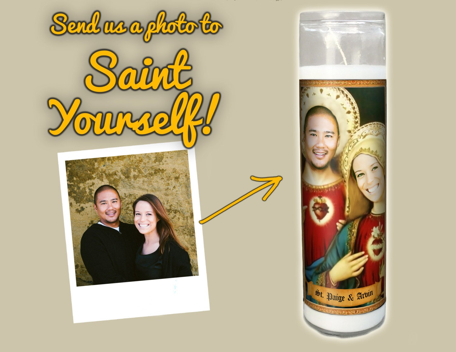 Gag Wedding Gifts For Couples: Funny Prayer Candle THE COUPLE Funny Wedding Gift
