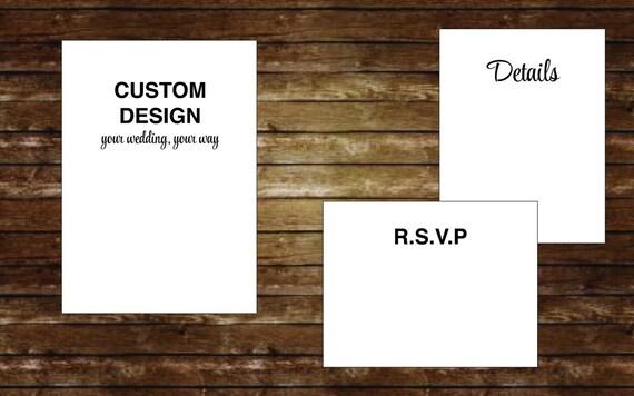 Custom Wedding Invitation, Personalized Wedding Invitation, Invitations, Custom Design, Event Invitations, Wedding Invites, Bridal Invites