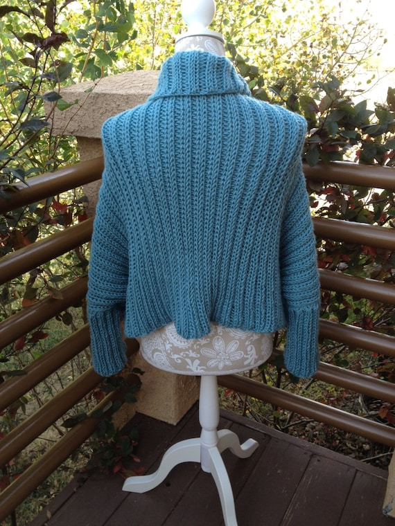 Sweater Shrug - a loom knit pattern from DaynaScolesDesigns on Etsy Studio