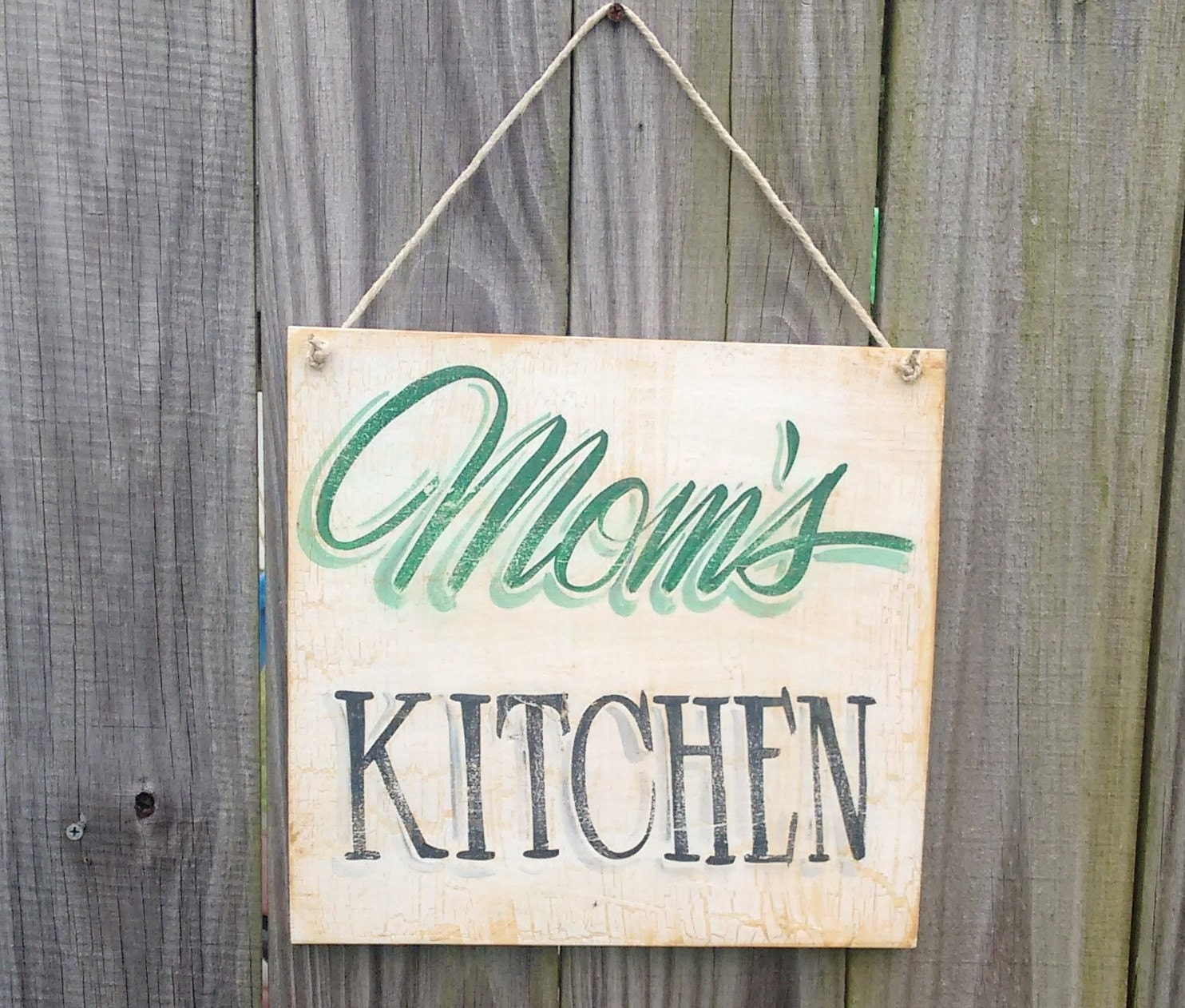 Rustic Kitchen Sign Mom's Kitchen Country Kitchen Wall