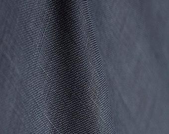 Tissu fin 100% pur lin coloris bleu denim