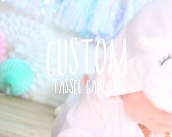 Custom Tassel Garland / Custom Wedding Tassel Garland / Tassel Garland / Birthday Tassel Garland / Peach and Mint Tassel Garland