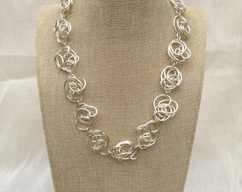 Silver Wire Freeform Necklace