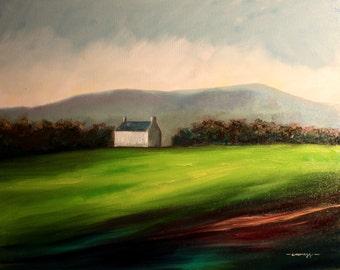 Scottish Cottage Original Landscape Oil Painting (60cm x 50cm)