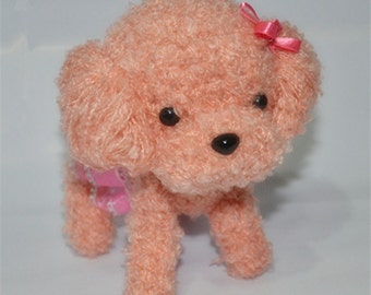 Teddy dogs knitted stuffed dogs Knitted dogs - Hand Knitted Animal - Plush Knitted Toy - Kids Toy Plush Doll - Kids baby Children Gift