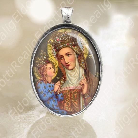 Saint Anne Anna Mother of Mary Pendant. Catholic St Ann