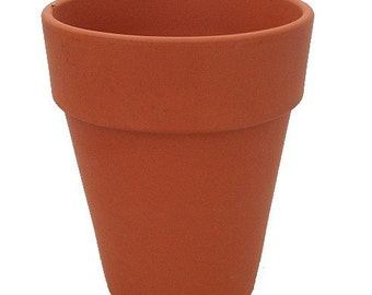 "5 - 5 1/2"" Tall Clay Pots - Great for Plants and Crafts"