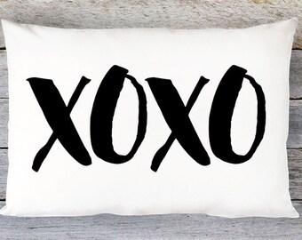 XOXO Throw Pillow Cover - Lumbar Pillow Cover - Wedding Gift - By Aldari Home