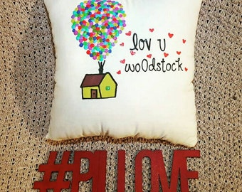 UP Pixar Pillow *Add you own quote**