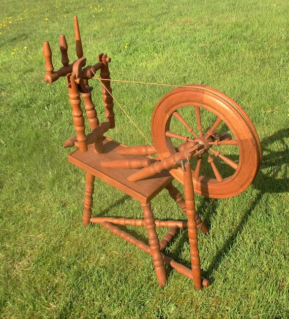 headboard and frame set vintage large wooden spinning wheel decorative by tweedeleven 15533