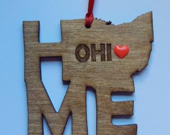 OHIO HOME Christmas Ornament