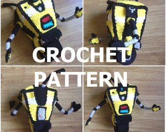 PATTERN - Crochet Claptrap - Borderlands Inspired CL4P-TP Robot Plushie Stuffed Toy