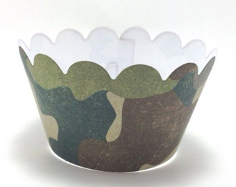 Army/Camo cupcake wrappers