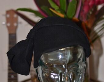Vintage Estate Stewart and Company Black Kensington Fur Felt Hat size 22