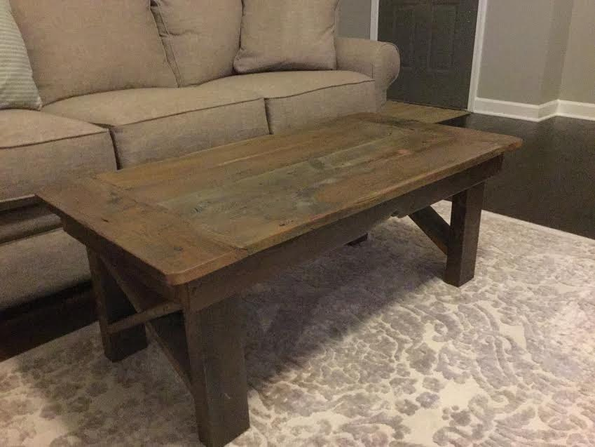 farm style rustic coffee table. Black Bedroom Furniture Sets. Home Design Ideas