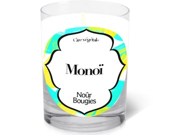 """Scented candle """"Monoi"""" /Nour Bougies"""