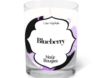 """Scented candle """"Blueberry"""" Nour Bougies"""