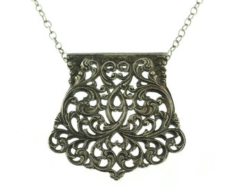 SALE--Vintage Filigree Necklace