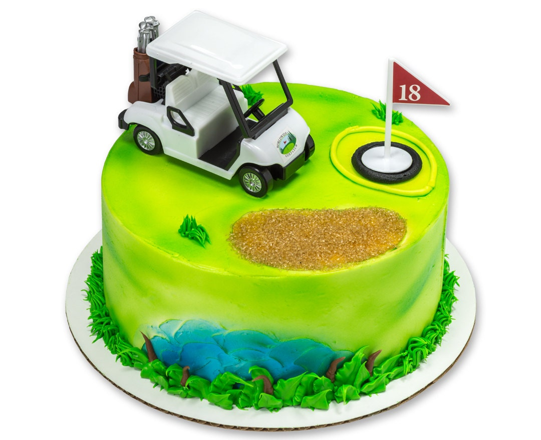 Mini Golf Cart Cake Topper