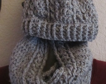 Chunky Cable Cowl and Hat Set