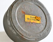 Vintage Kodak Tri X Film Can /Tin / Container / Canister