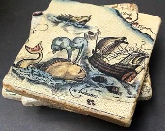 Sea Creature Coaster Set