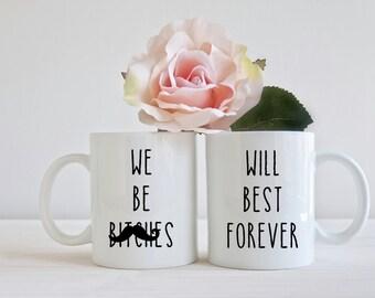 Best friends mug set 11oz unique gift