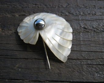 Mother of Pearl Hat Pin, French Hat Pin