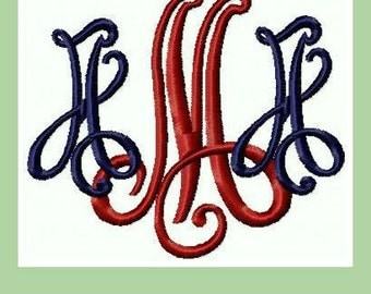 Victorian Monogram Font - Comes in 2 and 3 Inch Font