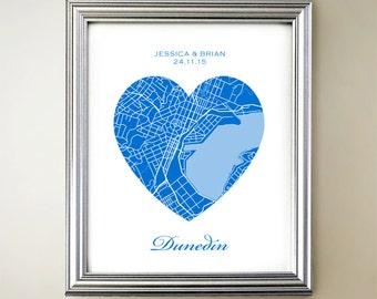 Dunedin Heart Map