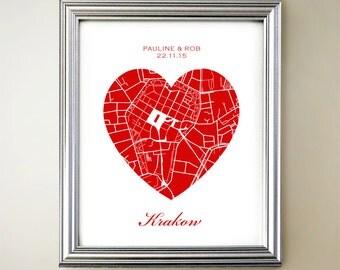 Krakow Heart Map