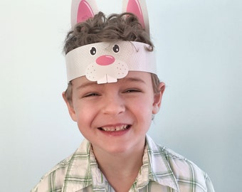 Easter hat patterns etsy for Easter bunny hat template