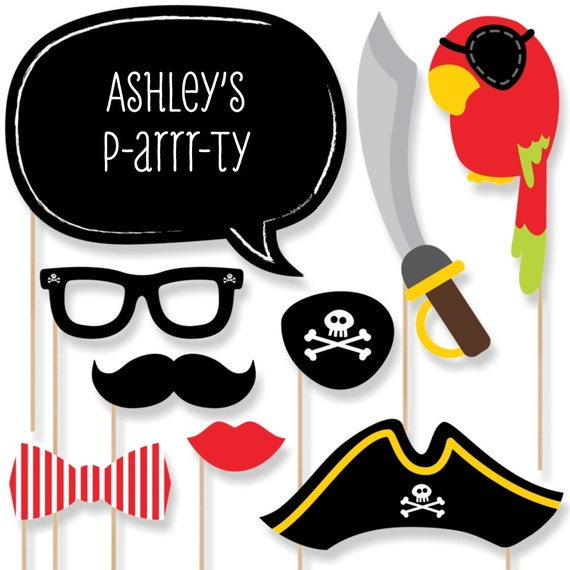 20 Ahoy Mates Pirate Photo Booth Props Beach Party