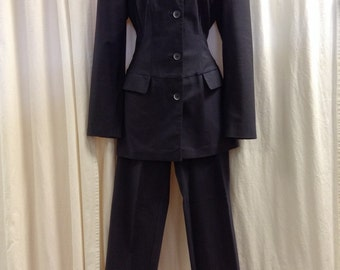Slowik Italy Slate Gray Pant Suit Size 4/6